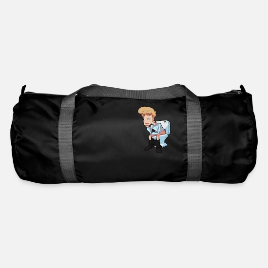 Newspaper Bags & Backpacks - On The Toilet - Duffle Bag black