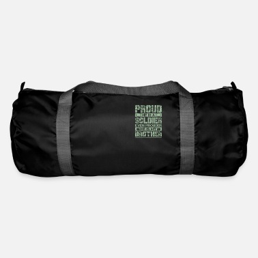 Proud Proud Military Sibling Of Soldier Brother - Duffle Bag