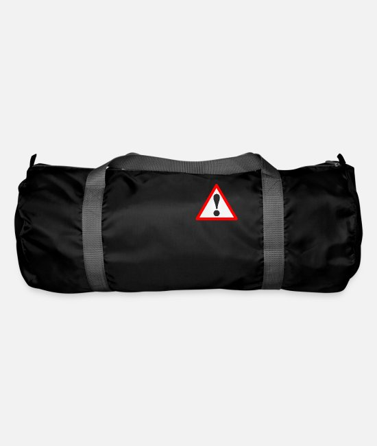 Punctuation Marks Bags & Backpacks - Warning sign / Exclamation mark / Warning / Attention - Duffle Bag black