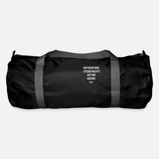 High School Graduate Bags & Backpacks - mathematician - Duffle Bag black