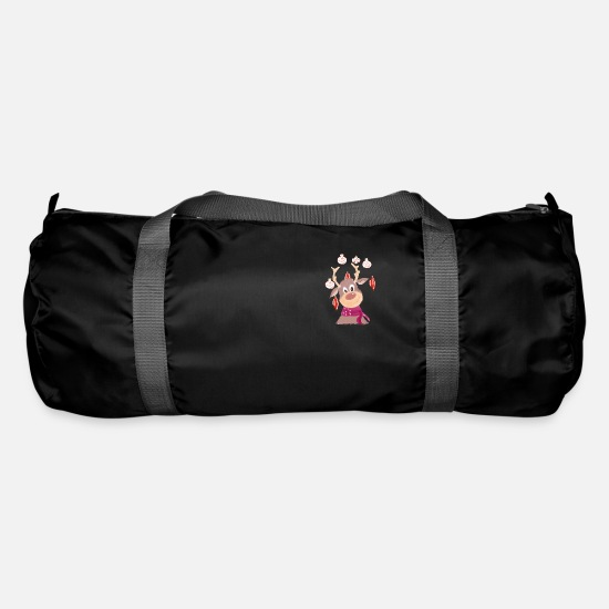 Reindeer Bags & Backpacks - reindeer - Duffle Bag black
