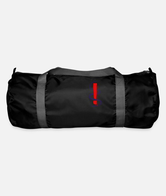 Important Bags & Backpacks - Exclamation mark - Duffle Bag black