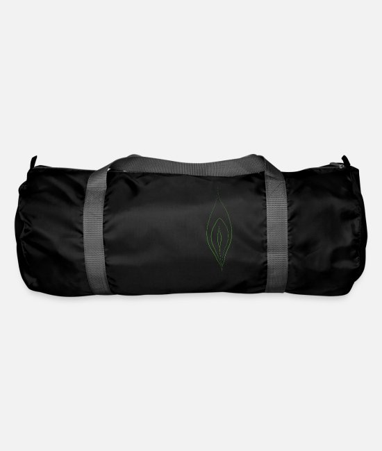 Drawing Bags & Backpacks - the origin of the world - Duffle Bag black