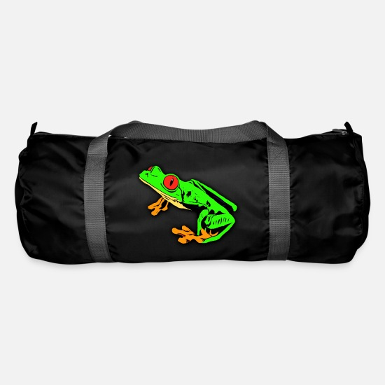 Anfibio Borse & Zaini - Red Eyed Tree Frog Drawing - Borsa sportiva nero