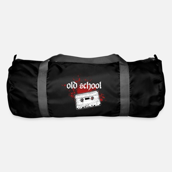 Art Bags & Backpacks - old school music tape - Duffle Bag black