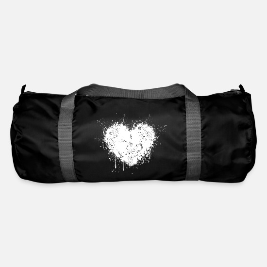 Love Bags & Backpacks - Heartache separation - Duffle Bag black