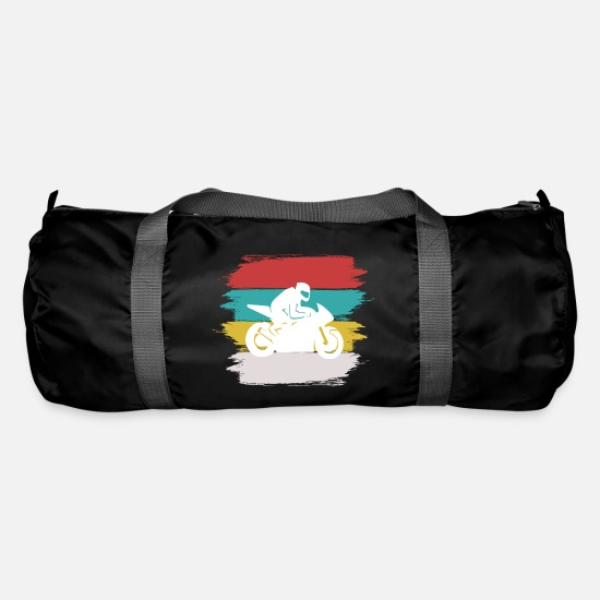 Paint Brush Bags & Backpacks - Bike Motorcycle 2 Paint Brush Background - Duffle Bag black