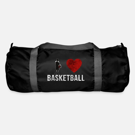Fitness Borse & Zaini - I Love Basketball - Figure Scratch - Borsa sportiva nero