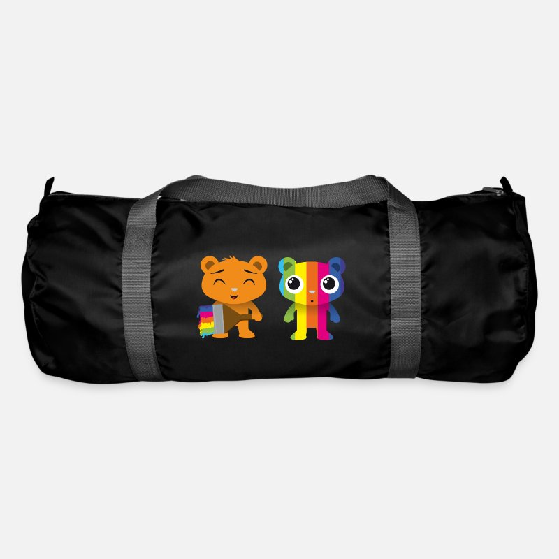 Gift Idea Bags & Backpacks - Bears painted with a brush - Duffle Bag black