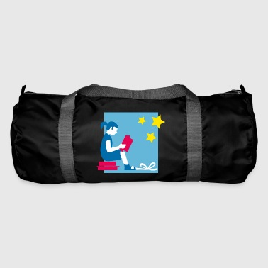Merry Christmas Merry Christmas child reads - Duffel Bag