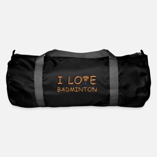 Gift Idea Bags & Backpacks - Sport Shirt • Badminton Sport • Gift - Duffle Bag black