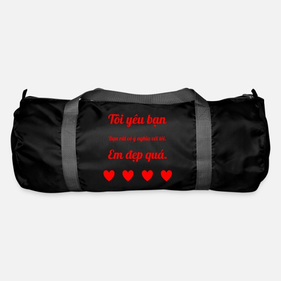 Love Bags & Backpacks - Declaration of love in Vietnamese - Duffle Bag black