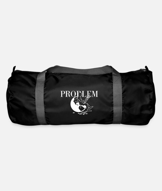 Earth Bags & Backpacks - Problem white - Duffle Bag black