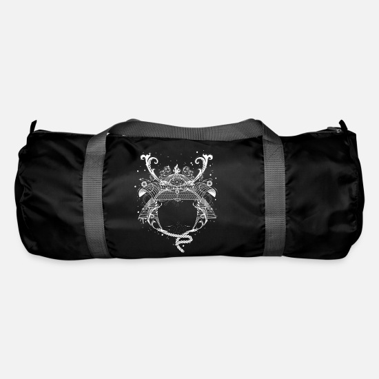 Symbol  Bags & Backpacks - Japanese Samurai helmet - Duffle Bag black