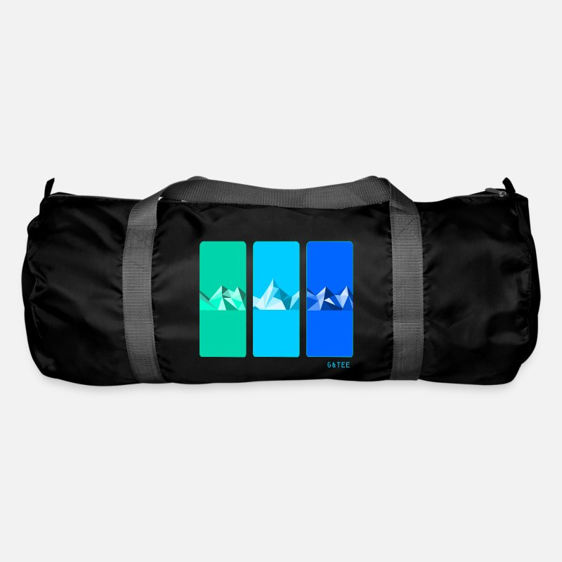 Funky Bags & Backpacks - Mountain blue duffel bag black - Duffle Bag black