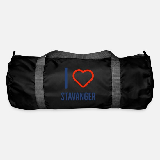 Love Bags & Backpacks - I love Stavanger - Duffle Bag black