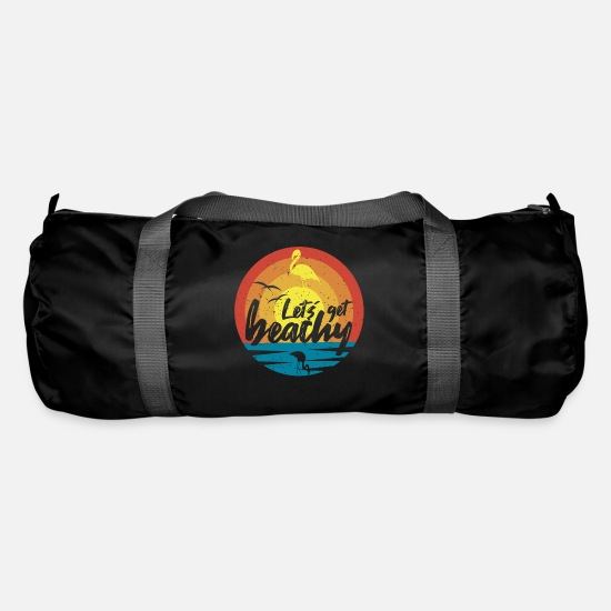 Gift Idea Bags & Backpacks - Let´s get beachy - Vintage Flamingo Sommer - Duffle Bag black