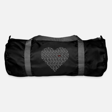 Heart of writing (white) - Duffel Bag