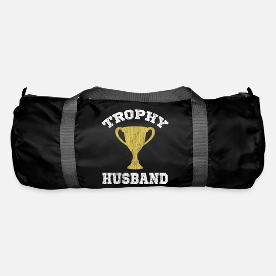 Birthday Bags & Backpacks - TROPHY HUSBAND - Duffle Bag black
