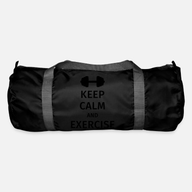 Keep Calm And keep calm and exercise - Bolsa de deporte