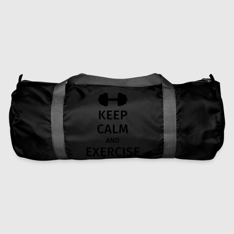 keep calm and exercise - Duffel Bag