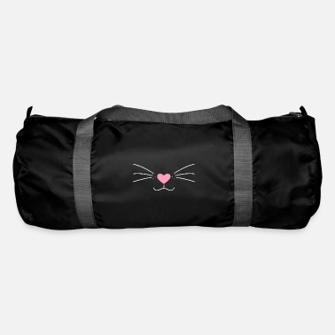 Kawaii Cute cat face nose drawing gift - Duffle Bag