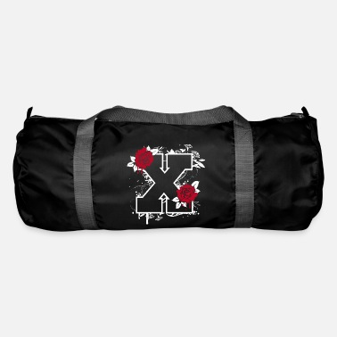 Red Eyes Letter X with roses - Duffle Bag