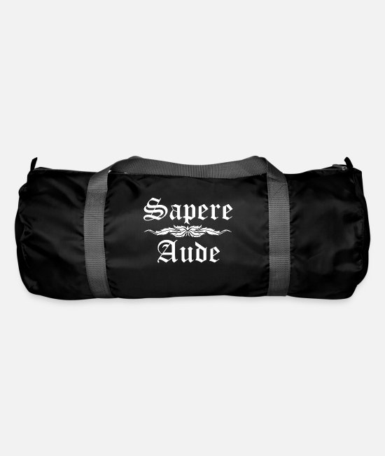 Latin Proverb Bags & Backpacks - Sapere Aude - Latin proverb - Duffle Bag black