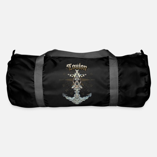 Yacht Bags & Backpacks - Toulon Anchor Nautical Sailing Boat Summer - Duffle Bag black