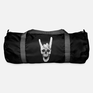 Horn Heavy Metal Music Skull Devil Horn Sign - Sportstaske