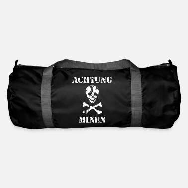 Grungy Grungy Warning Sign – Achtung Minen - Duffle Bag