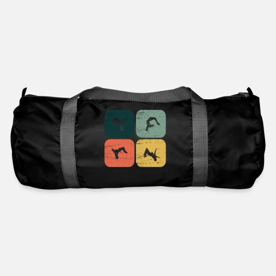Grungy Bags & Backpacks - BackFlip, Somersault, Gymnastics, Parkour, Gift, Fun - Duffle Bag black