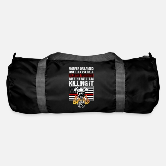 Birthday Bags & Backpacks - Volunteer Firefighter Firefighter Firefighter - Duffle Bag black