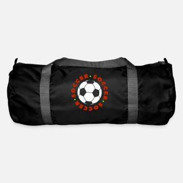 Soccer Ball Soccer Football Player Ball Ik hou van Soccer Fussball - Sporttas
