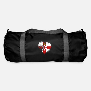 Northern Ireland Grungy I Love Northern Ireland Heart Flag - Duffel Bag