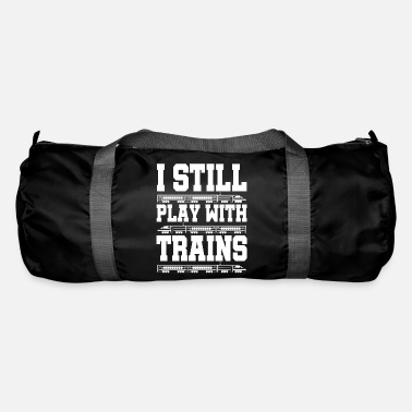 Training Train trains train steam locomotive - Duffle Bag