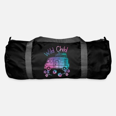 Hippie Movement Wild Child Watercolor Hippie Movement Camping - Duffle Bag