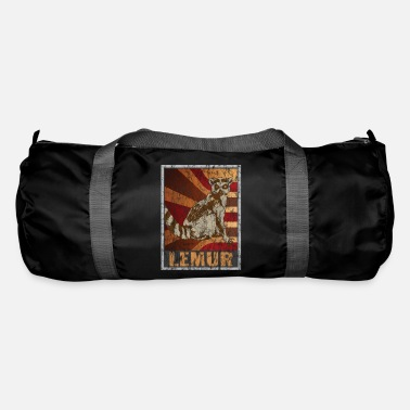 Nez Affiche Retro Lemurs Distressed Look - Sac de sport