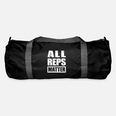 Building Bodybuilder Workout All Reps Matter - Duffel Bag