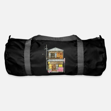 Japanese house with shop - Duffle Bag