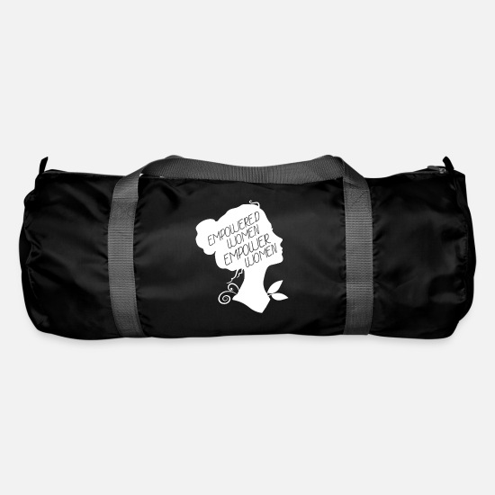 Emancipation Bags & Backpacks - Empowered Women Empower Women - Women's Power Design - Duffle Bag black