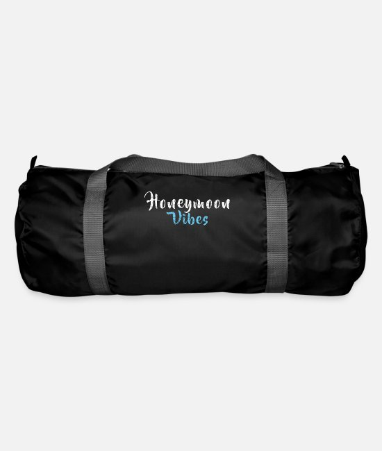 Bachelorette Bags & Backpacks - Honeymoon feeling vibrations - Duffle Bag black