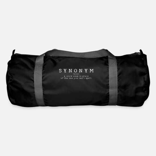 Grammatical synonym teacher pupil Duffel Bag - black