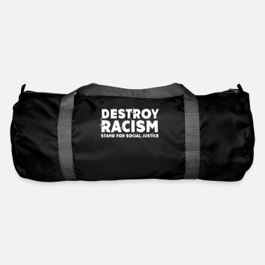 Hippie Destroy Racism Stand For Social Justice - Duffle Bag