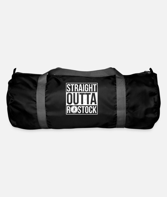 Coast Bags & Backpacks - Straight Outta Rostock North Sea Northern Germany - Duffle Bag black