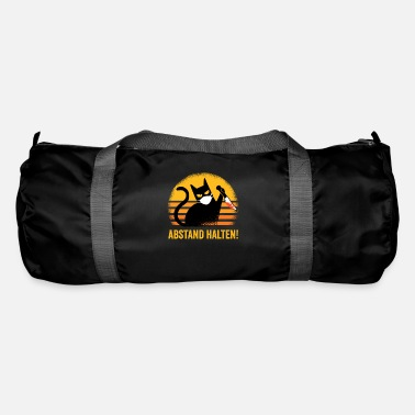 Cat Keep Your Distance Keep your distance black cat gift idea - Duffle Bag