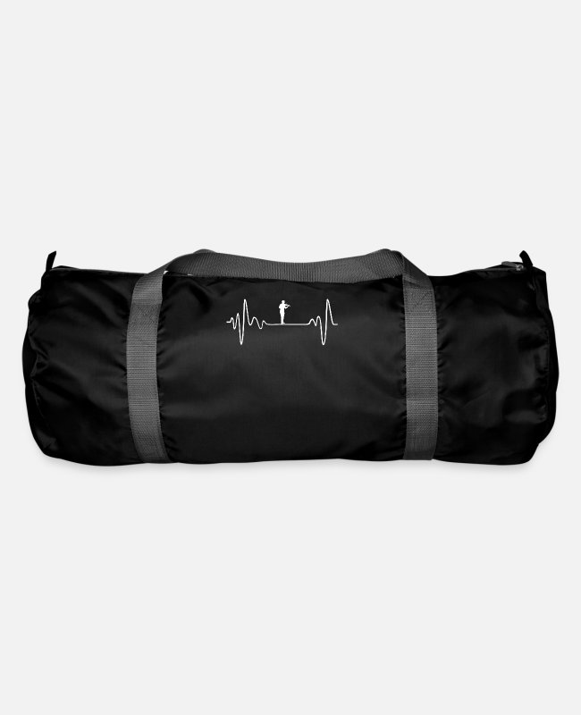 Chain Bags & Backpacks - MY HEART BEATS FOR VIOLIN - Duffle Bag black