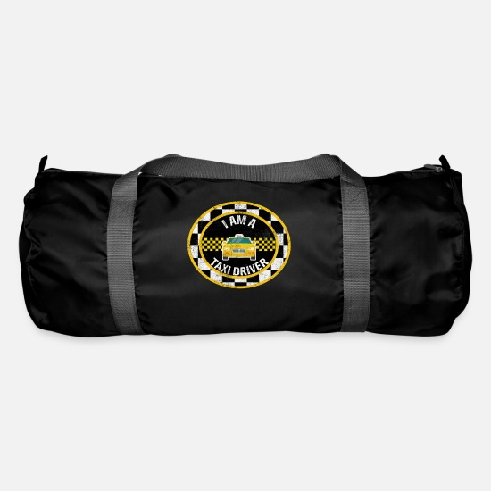 Gift Idea Bags & Backpacks - taxi driver - Duffle Bag black