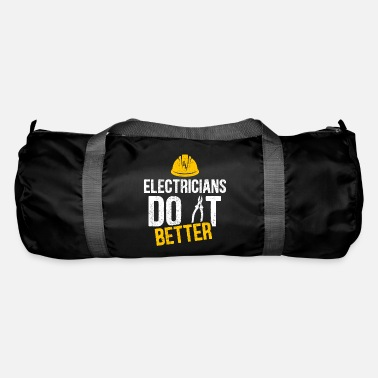 Electricity Electrician witty saying profession gift idea - Duffle Bag