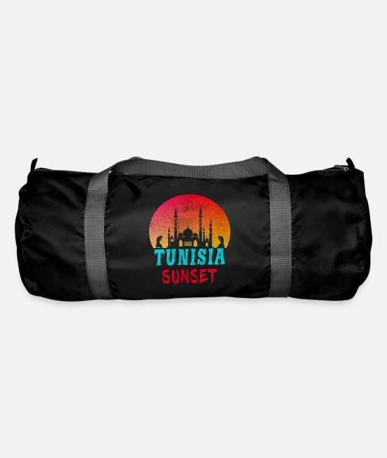 Sunset Bags & Backpacks - Tunisia Sunset Vintage / Gift Tunis - Duffle Bag black